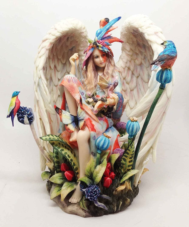 SHEILA WOLK TRANQUILITY STATUE BUTTERFLY FIGURINE BALL ANGELIC WINGS OF BEAUTY