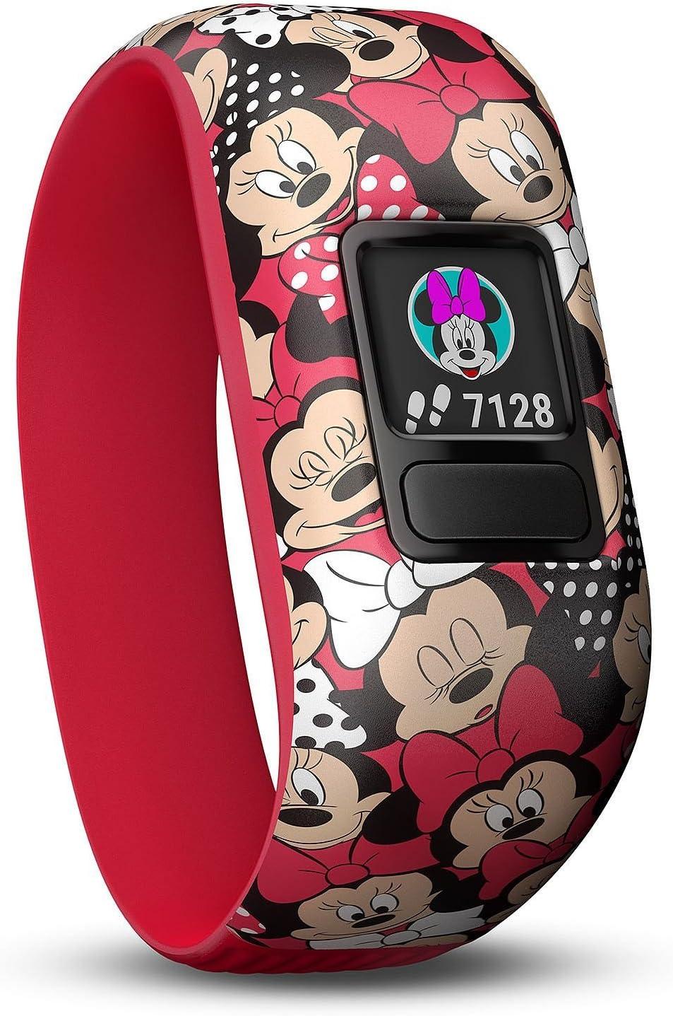 Garmin 010-01909-42 vivo fit jr. 2 Activity Tracker – Stretchy Band w Extra Black Band, Disney Minnie Mouse Black