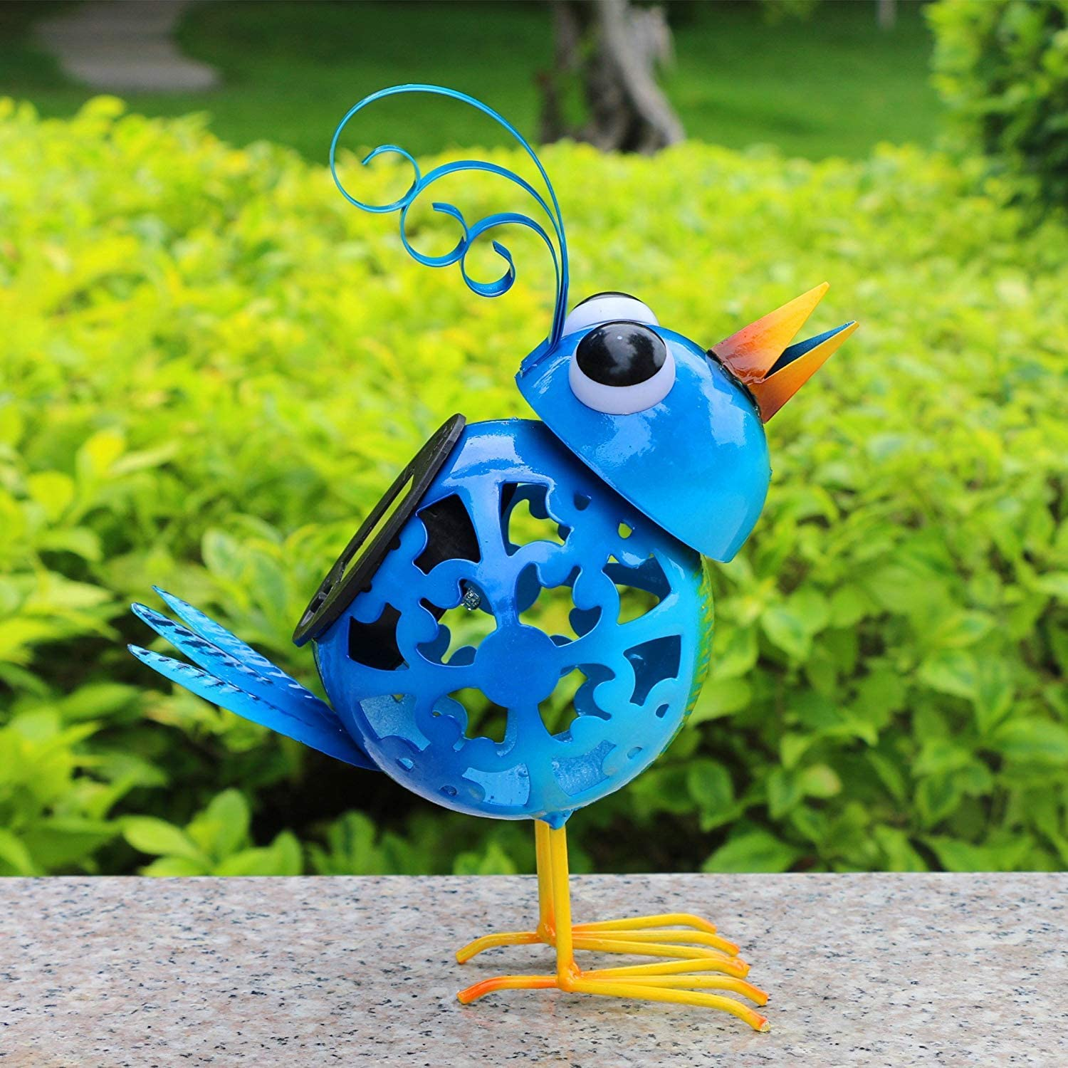 Solar Animal Lights, Metal Yard Art Animals,Iron Bird Statues for Garden Outdoor Yard Backyard Decoration and Ornaments