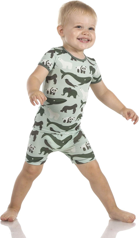 KicKee Pants Print Short Sleeve Pajama Set with Shorts