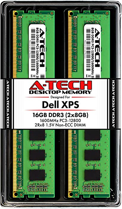 A-Tech 16GB (2x8GB) RAM for Dell XPS 8500, 8700 | DDR3 1600MHz DIMM PC3-12800 240-Pin Non-ECC UDIMM Desktop Memory Upgrade Kit