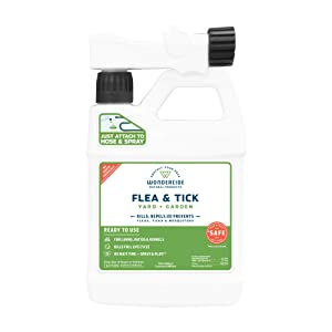 Wondercide Ready-to-Spray Natural Flea and Tick Yard Spray | Control, Prevent Fleas, Ticks, Mosquitoes & Other Insects | 32oz Covers Up to 5,000 sq ft, Safe Around Kids, Pets, Plants