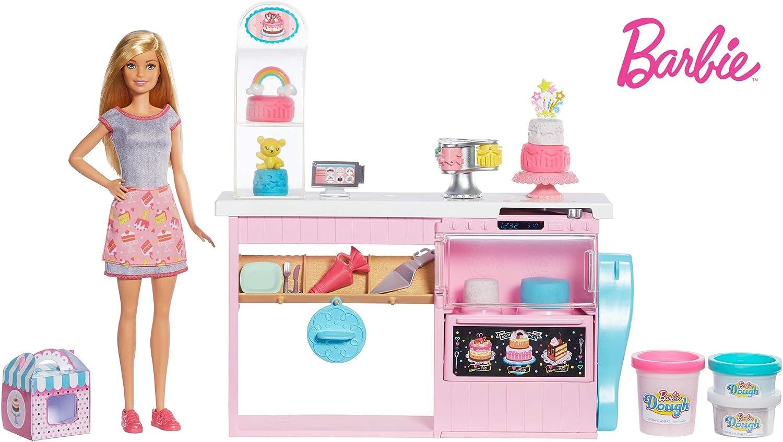 Amazon.es: Barbie y su pastelería, muñeca con cocina y accesorios ...