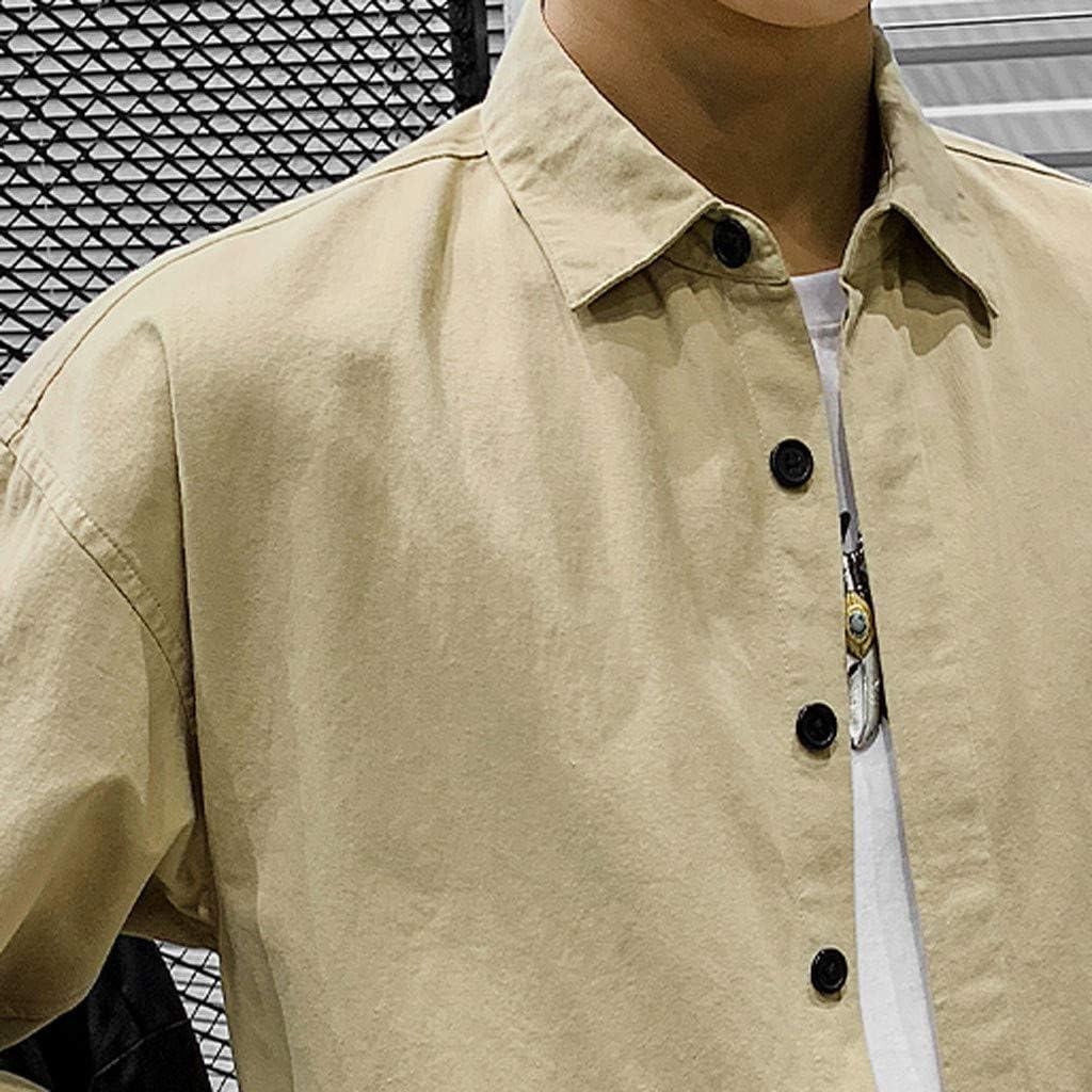 YUTING Hombre Camisa, Camiseta para Hombre Casual Manga ...