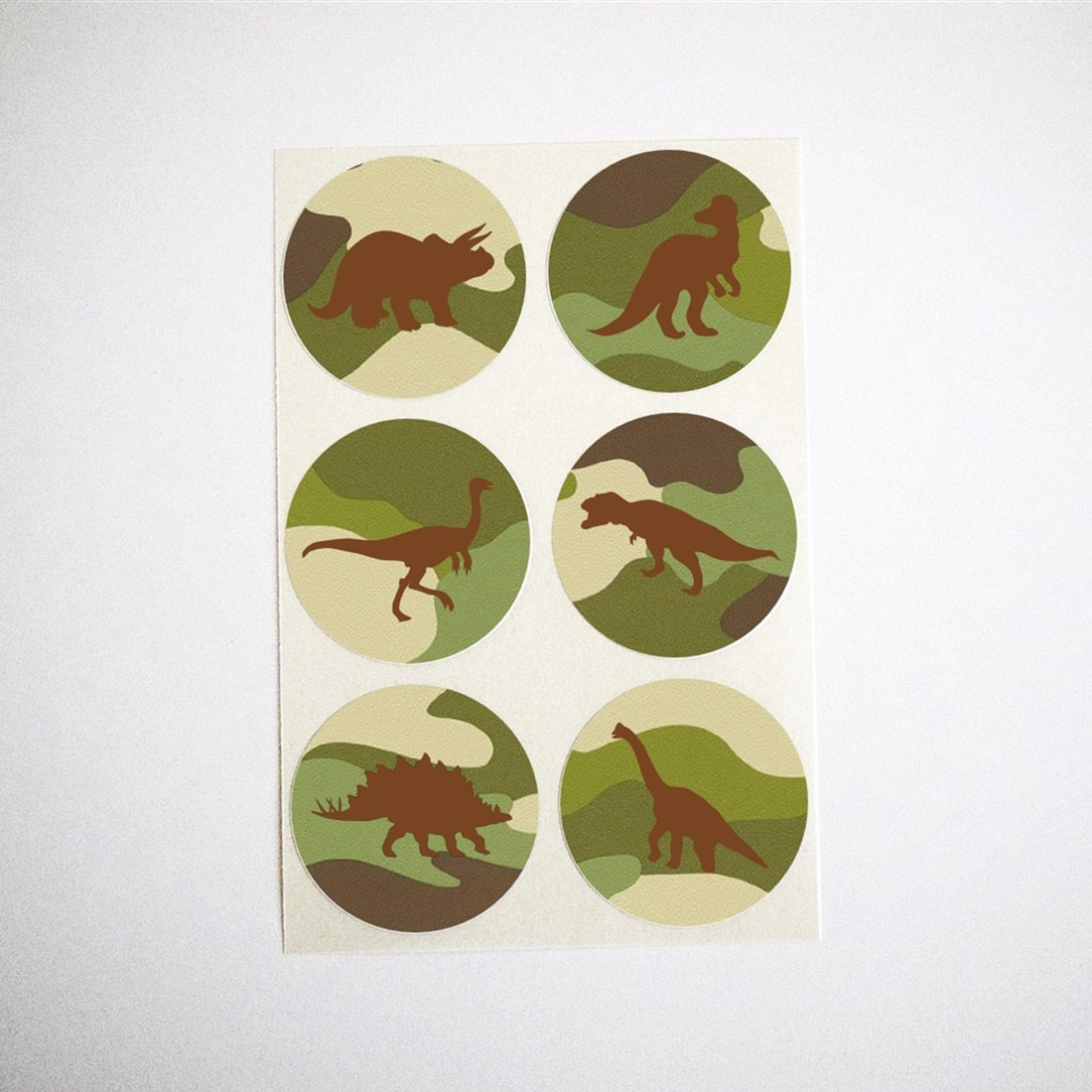 Once Upon Supplies Dinosaur Stickers, Black