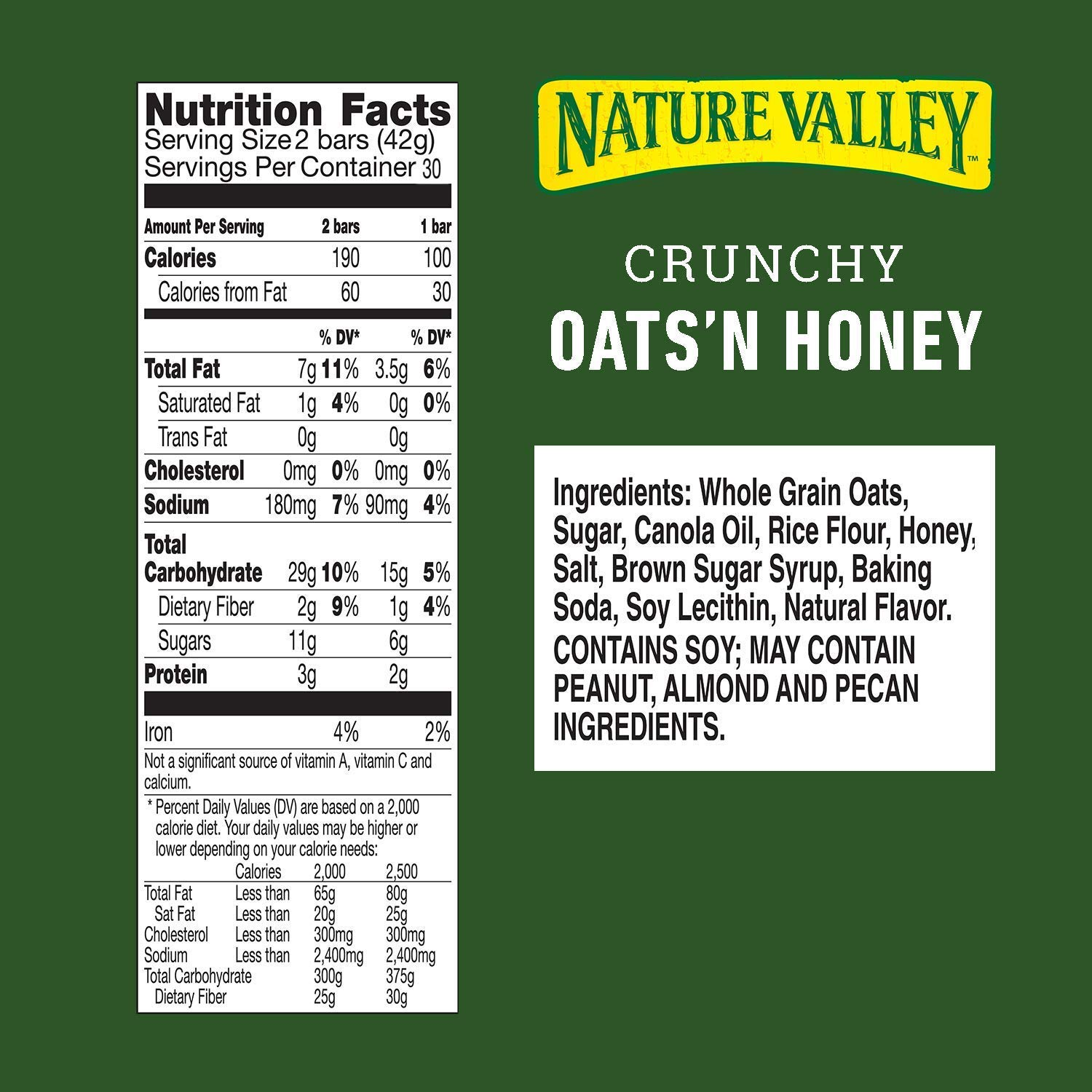 Nature's Valley granola bars, Crunchy Oats N Honey, 60 Count by Nature Valley (Image #2)