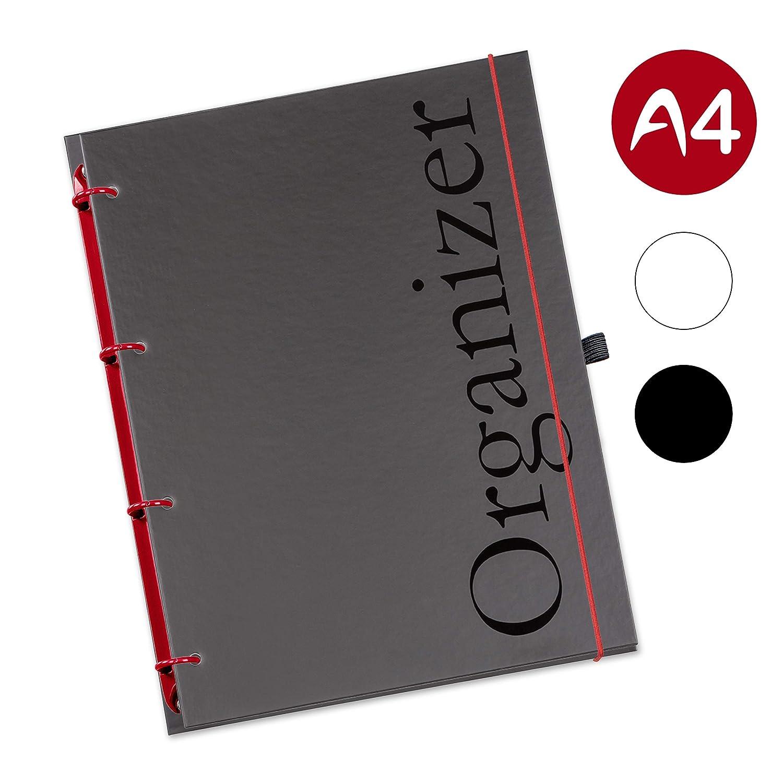 flexiNotes® Schaar Organizer Organizador rellenable, calendario 2018, 1 semana en 2 páginas (idioma español no garantizado), tamaño A4, color borgoña: ...