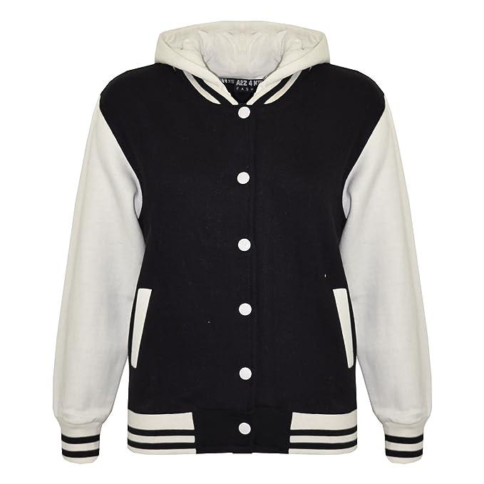 2d37253d413a A2Z 4 Kids Kids Girls Boys Baseball Plain Hooded Jacket Stylish ...