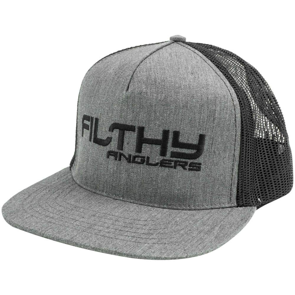 Filthy Anglers Flat Brim Fishing Trucker Hat Snap Back Multiple Options Designs