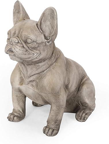 Christopher Knight Home Susan Outdoor French Bulldog Garden Statue