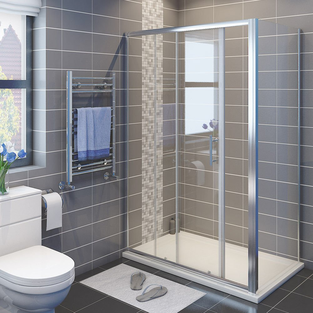 Duschabtrennung 120cm Nische Einzel Schiebetür Duschkabine Duschtür