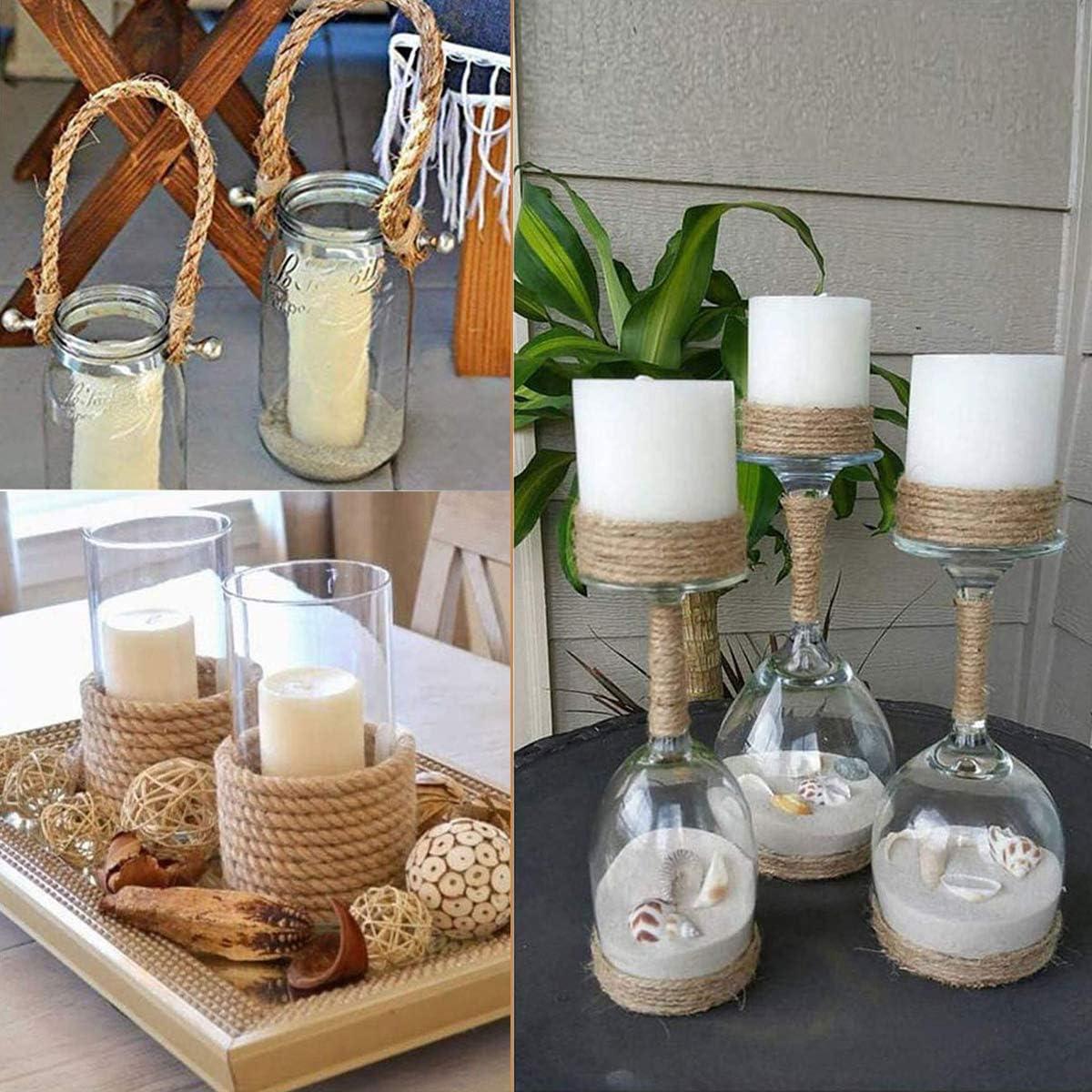 Hemp Rope 20M Natural Jute Craft Cord for DIY Crafts Decoration 3MM