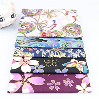 Cotton Craft Fabric Bundle Squares Patchwork,Japanese Style Cotton Wrapping Cloth Squares Quilting Fabric ACCOCO 8 x 10 Bundles of Fabric for DIY Patchwork Sewing 20cm x 25cm
