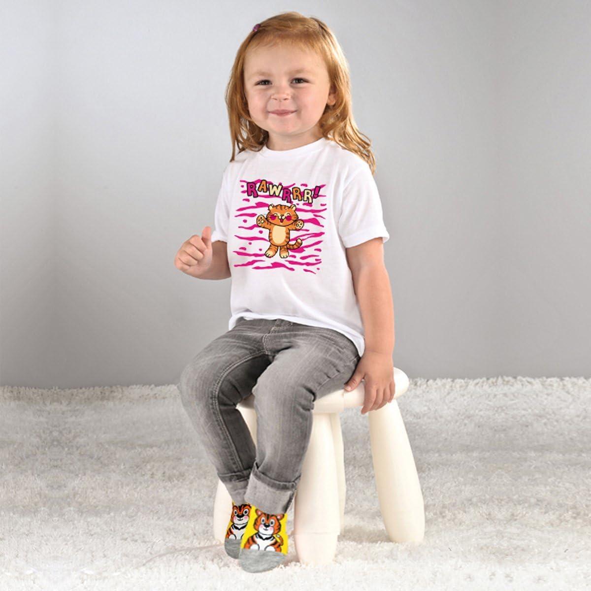 Non Skid Anti Slip Grip Pull Up Loops Toddler Boys Girls Socks Seamless Toe