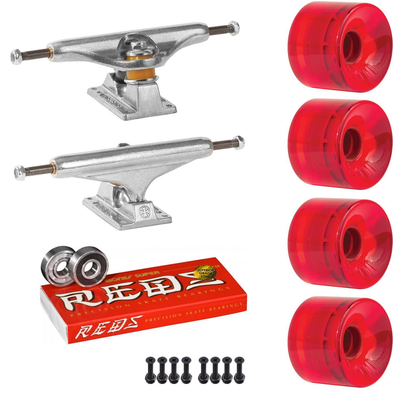 スケートボードキットIndy 159 Trucks OJ Hot Juice 60 mmホイールTrans Red Super Reds   B07D3D9BJK