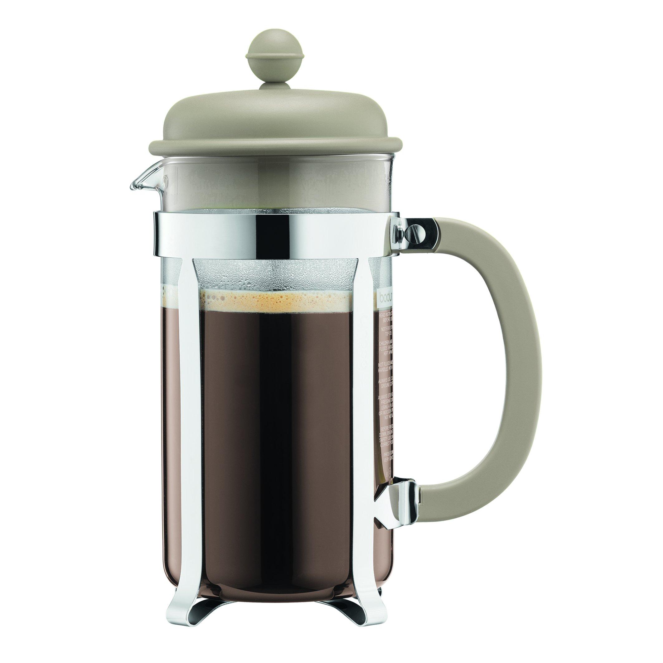 Bodum 1918-133B Caffettiera Coffee Maker, 8 Cup/1.0 L/34 oz, Sand by Bodum