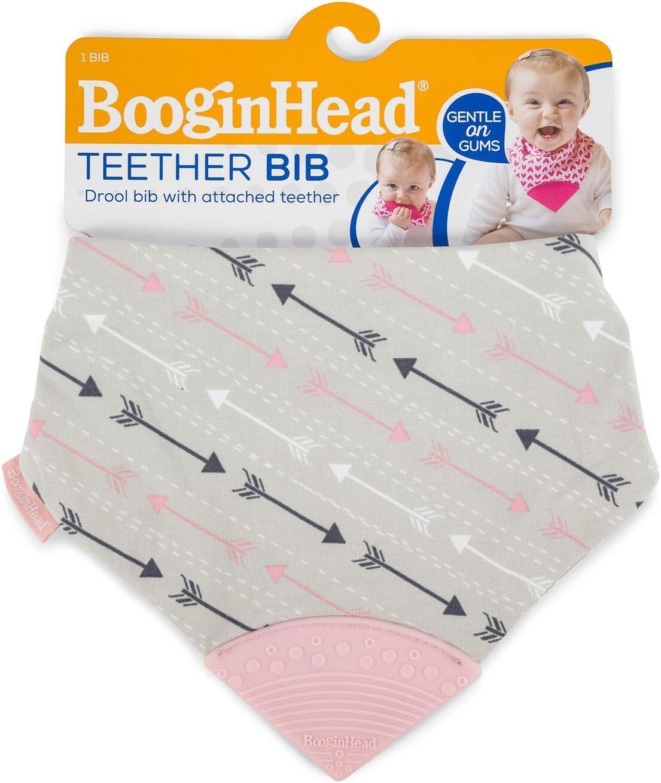 Pink//Grey BooginHead Bandana Teether Bib