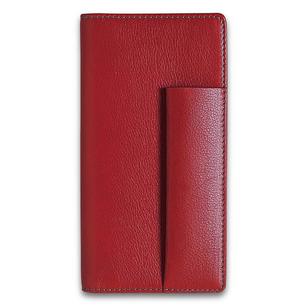 Levenger Pennington Checkbook Cover - Red