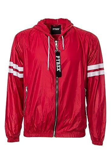 nuovo di zecca afd44 222fc PYREX - Giacchetto con cappuccio uomo color 33320 m rosso ...