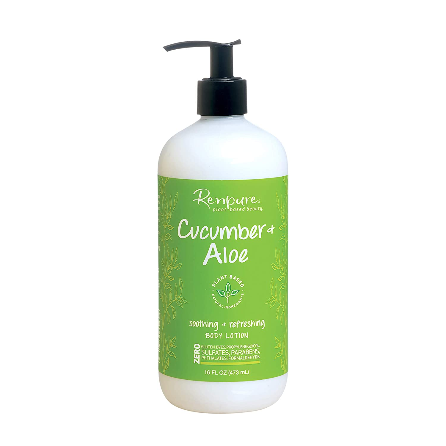 Renpure plant-based Beauty Cucumber & Aloe Soothing + Refreshing Body Lotion