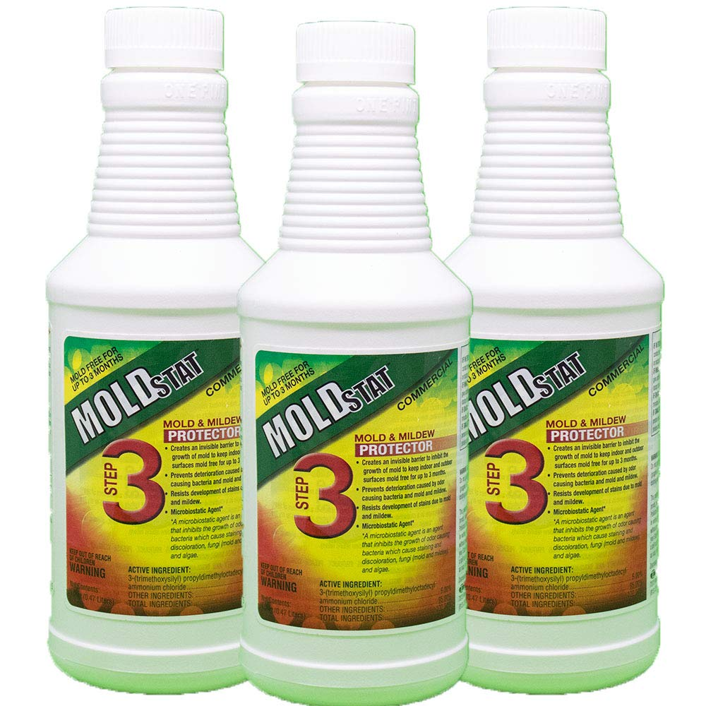 Moldstat Step 3 Commercial Mold & Mildew  Protector, 16 ounce (3) by Theochem