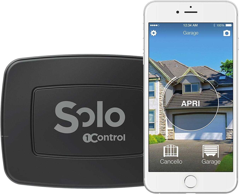 1Control SOLO PRO, Apricancello Bluetooth 4.0 per Smartphone per Cancelli e Porte Garage Controllati da Radiocomando, Nero