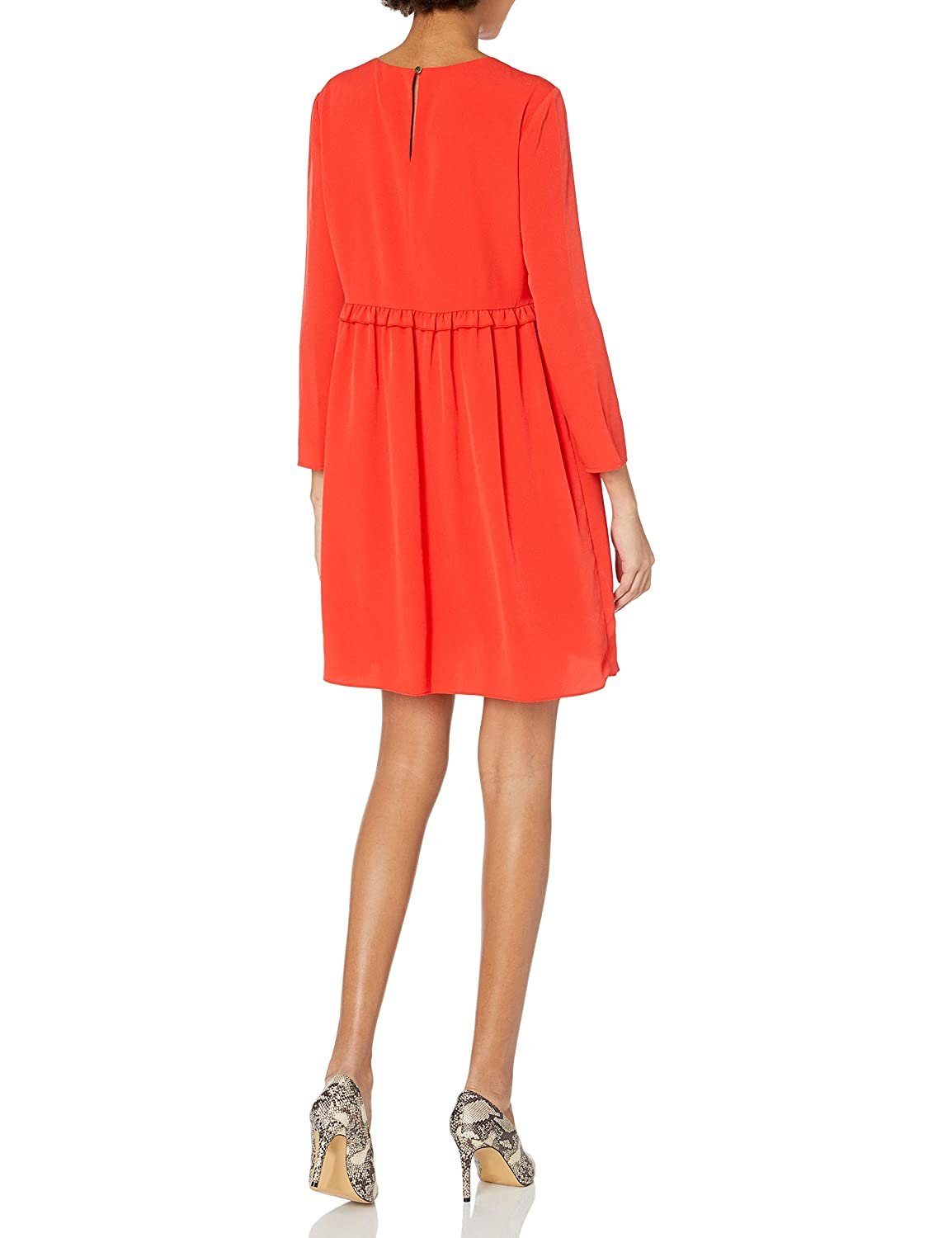 CeCe by Cynthia Steffe Womens Carly-L//s Ruffle Front Dress
