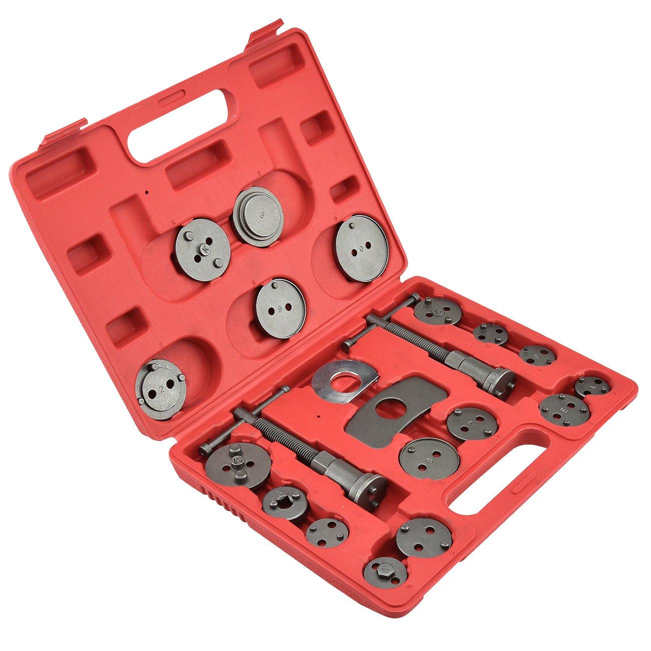 21 Piece Tool Kit Car/Truck Disc Brake Caliper Rewind Wind Back Auto Tool Set Kit for Piston Pad Disc Brake Car Truck Mechanics by Voluker (Image #2)
