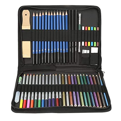 Amazon.com: Nitrip 51PCS Professional Artist Sketching ...