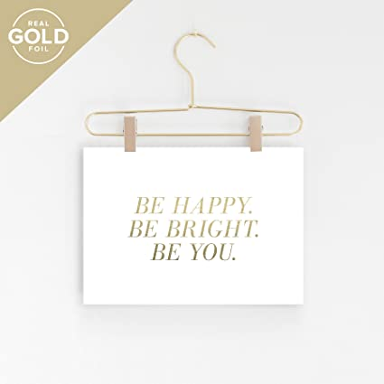 Amazon.com: Inspirational Wall Art, Be Happy Be Bright Be You, Wall ...
