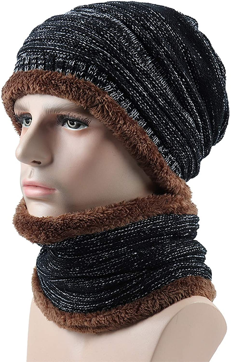 Winter Knitted Hat Scarf Caps Neck Warm Winter Hats Gorras Bonnet Mask Skullies Beanies Warm Fleece Cap