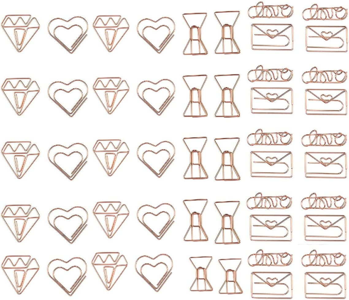 Document Organizing Clip Xumier 50pcs Paper Clips Small Used to Decorate Invitations Postcards Wedding Invitations Books notebooks etc