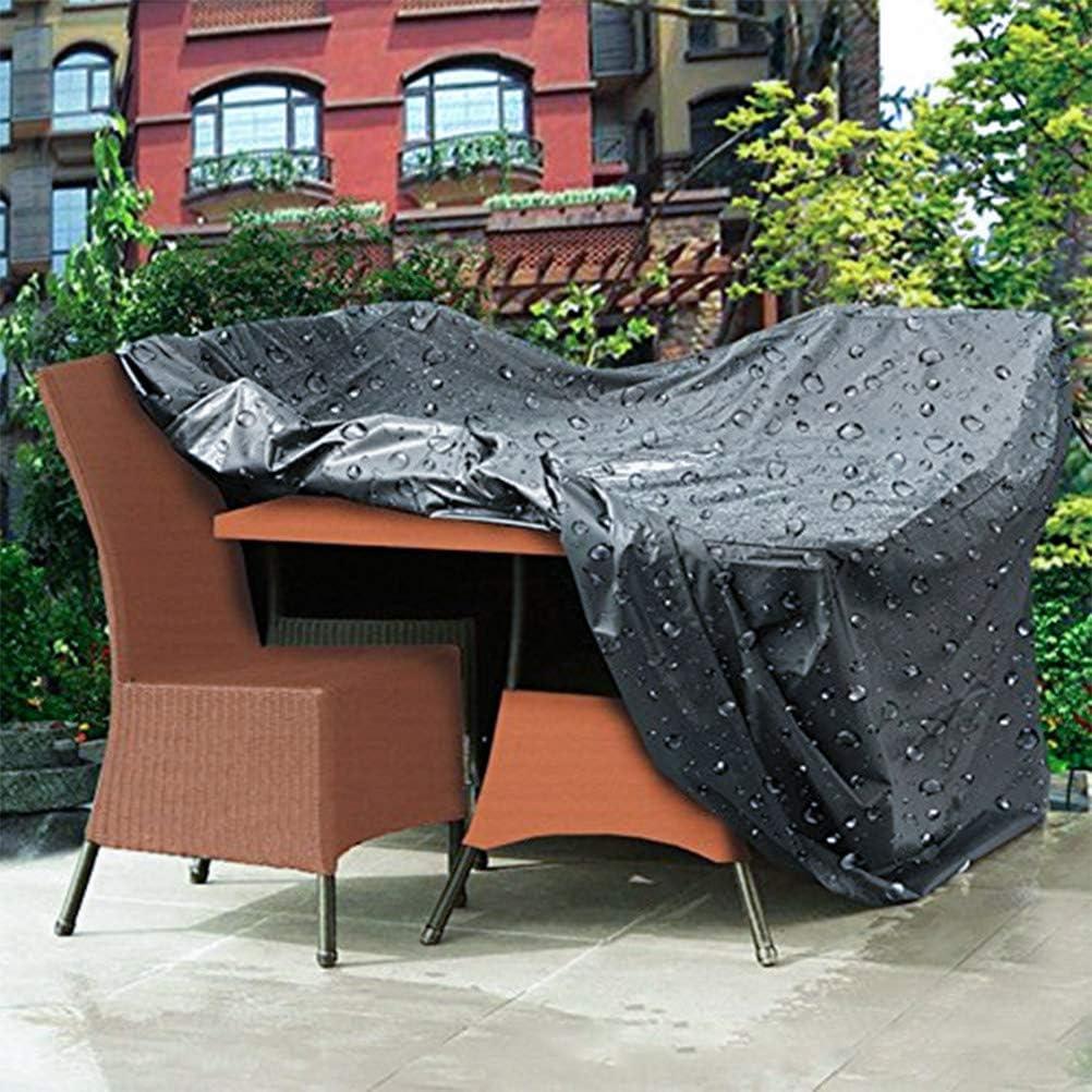 TIMESETL Copertura Tavolo da Giardino Copertura Mobilia Impermeabile Anti-UV 210D Esterno Oxford per Tavolo Divani e Altri Mobili Sedie