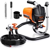 Airless Paint Sprayer, 500W Spray Gun Tool for Interior & Exterior Home, Specialized for Water-based Paint, Including 25 Feet
