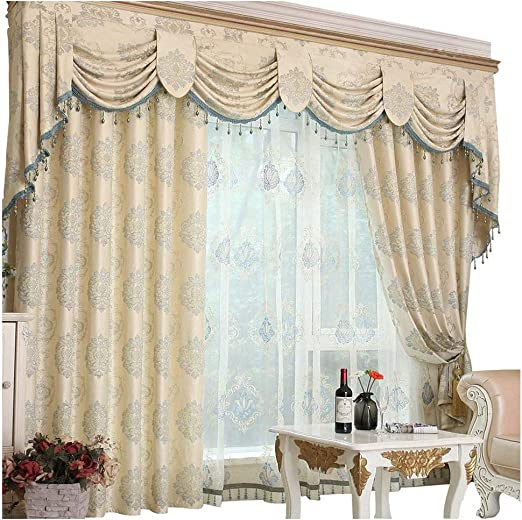 Amazon Com Queen S House Romantic Living Room Curtains With Valance 60 84 H Kitchen Dining