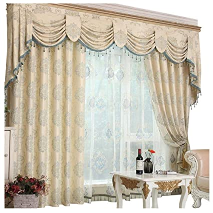 Queen\'s House Romantic Living Room Curtains with Valance 60\'\'×84\'\'-H
