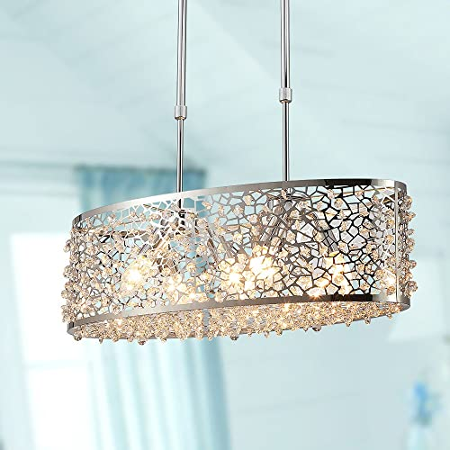 Saint Mossi 6-Lights Modern Pendant Light Fixtures,Modern Chandelier Light Fixture,K9 Crystals,Crystal Pendant Light