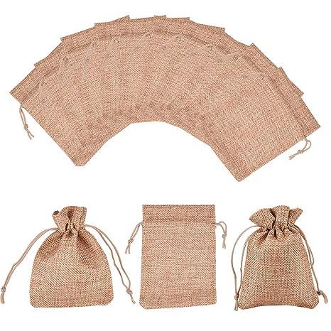 NBEADS Bolsas de arpillera pequeñas con cordón de Regalo ...