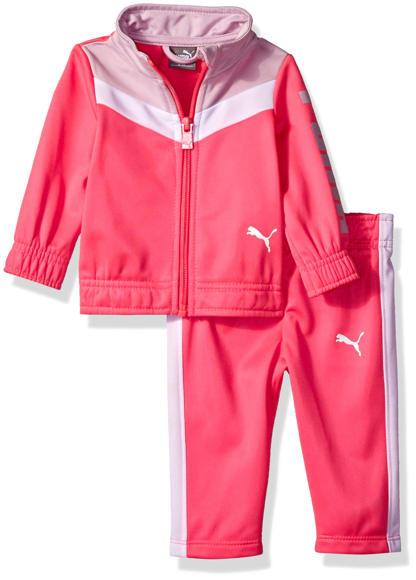 PUMA Baby Girls' Track Set, Knock Out Pink, 6-9M by PUMA