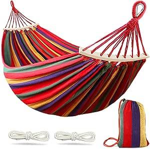 Hamaca para Acampar al Aire Libre con Soporte,Capacidad de Carga de 330 LB Columpio de Camping para Jard/íN Interior al Aire Libre para Ni/ñOs Adultos con Bolsa de Transporte Port/áTil,