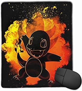Poke-mon Soul of Fire Charmander Mouse Pad Laptop Office Supplies Gaming Mouse Pad Fit Desktop Personal Computer Console