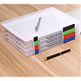 Lovetree Plastic Document Cases Desk Paper Organizers A4 Craft Storage Boxes, Pack of 4