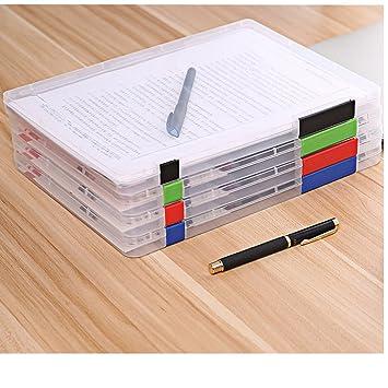 LoveTree plástico Documento casos escritorio papel Organizadores A4 Craft cajas de almacenamiento, juego de 4: Amazon.es: Oficina y papelería