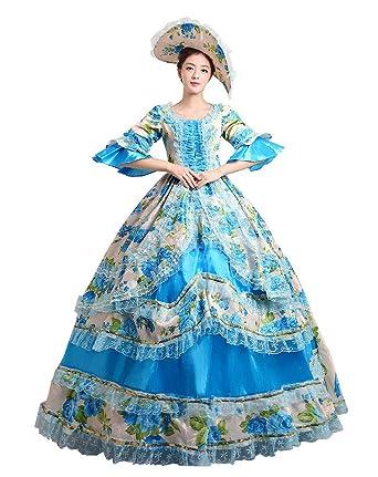 3e7603985c19 Zukzi Women's Prom Gothic Victorian Fancy Palace Masquerade Dresses, 1  Blue, ...