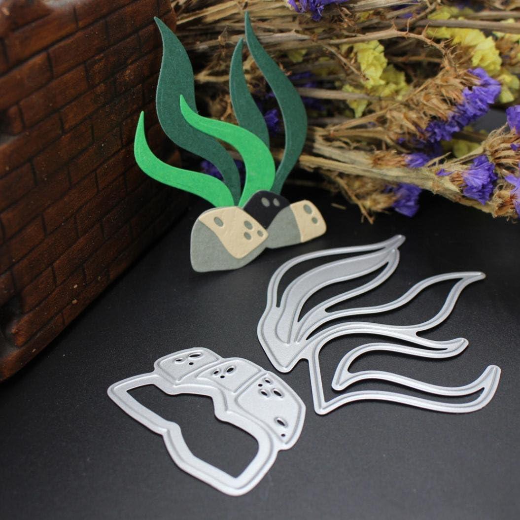 Metal Cutting Dies Seaweed Grass Card Cutter Scrapbook Album Embossing DIY Cards