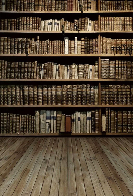 Leowefowa 1,5x2,2m Vinilo Telon de Fondo Libreria de Segunda ...