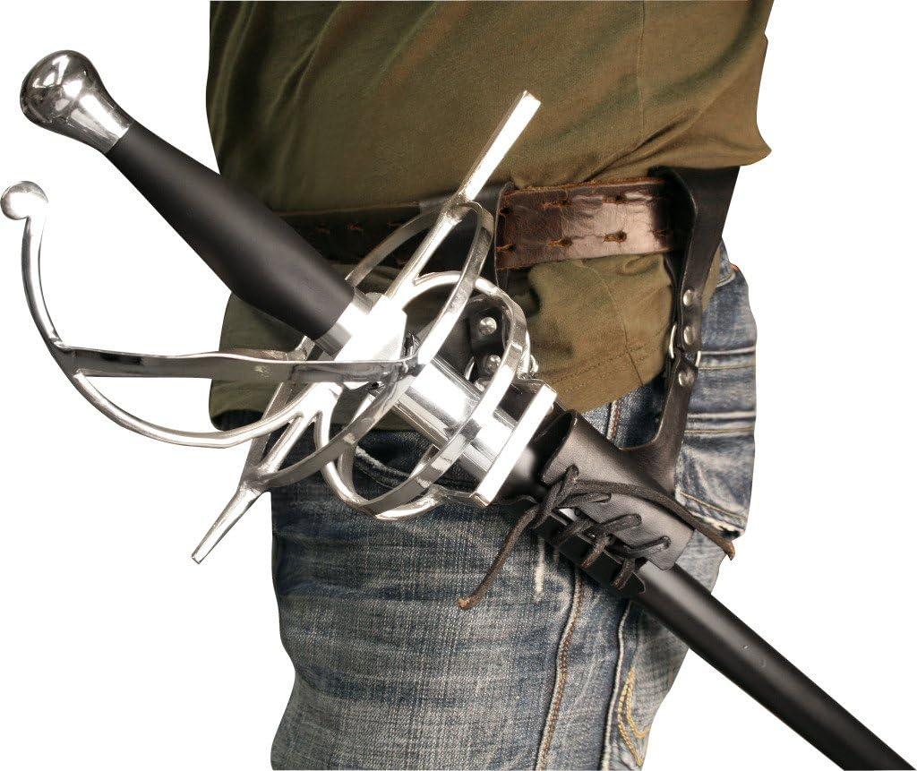 BladesUSA PK-6182 Universal Leather Sword Frog, 8-Inch Overall
