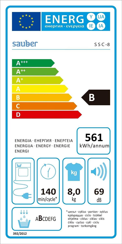 Sauber - Secadora de condensación SSC8 8 kg - B - INSTALACIÓN ...