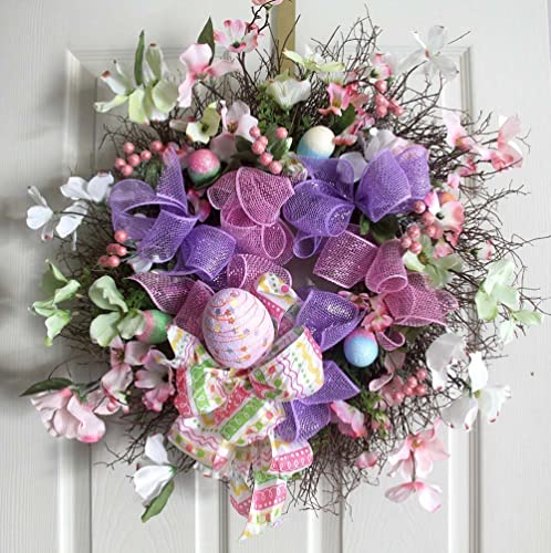 Amazon Com Easter Wreath Easter Egg Wreath Spring Wreaths Easter