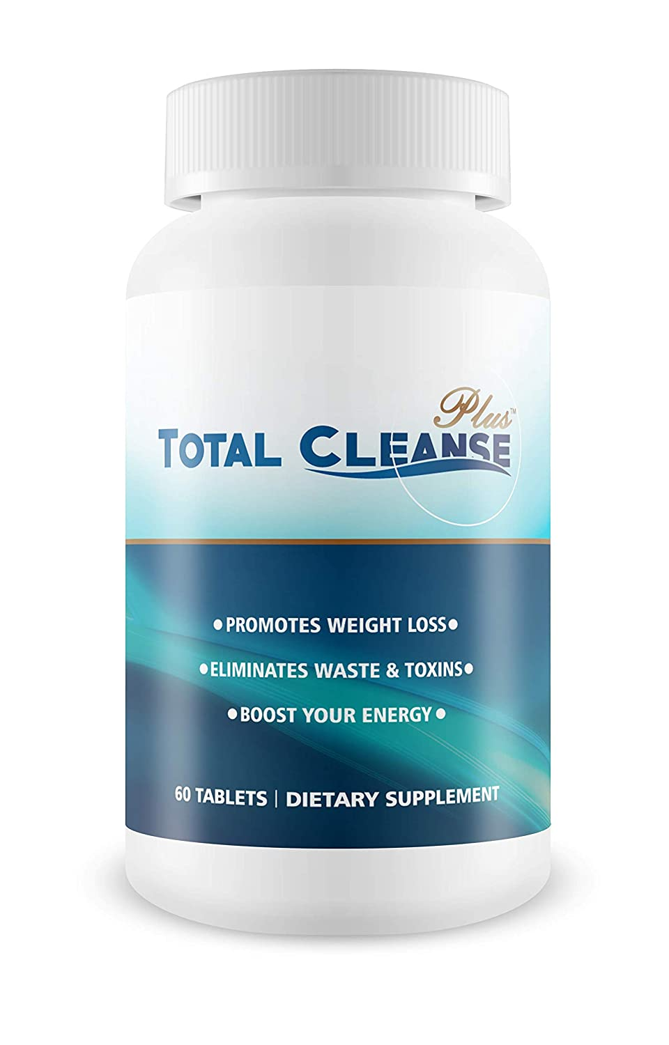 Total Cleanse Plus- Lose Weight – Safe and Natural – Eliminate Waste and Toxins – 60 Tablets